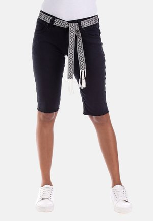 MELODY - Denim shorts - schwarz