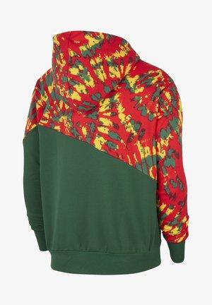 THROWBACK - Bluza z kapturem - gorge green/pale ivory