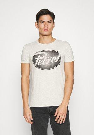Print T-shirt - antik white