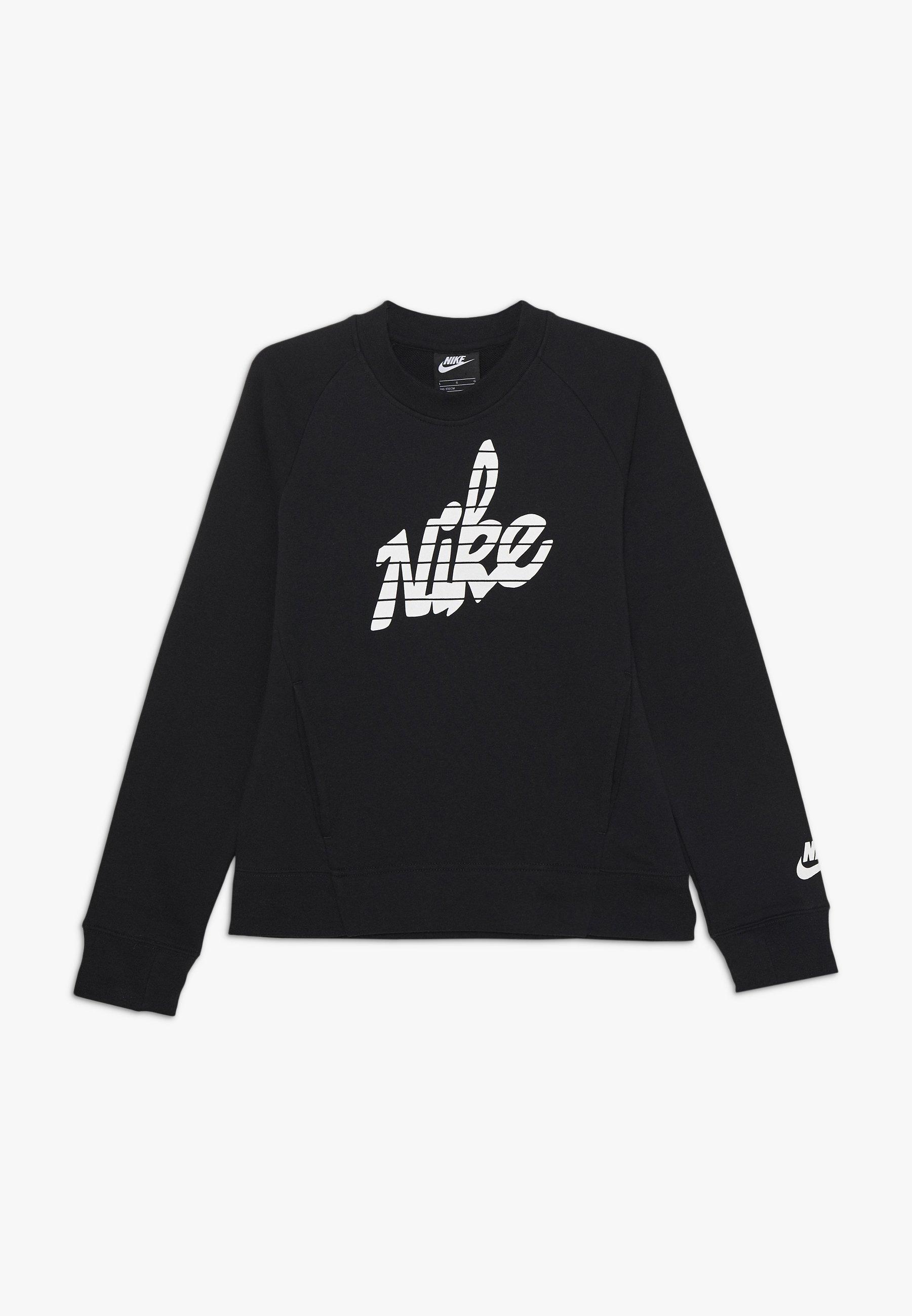 Große Förderung Nike Sportswear CREW - Sweatshirt - black/white   Damenbekleidung 2020