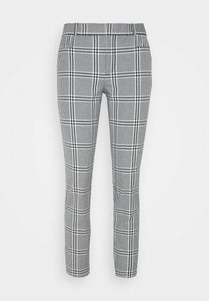 CURVY SLOANKIKIPLAID - Pantaloni - black/blanco