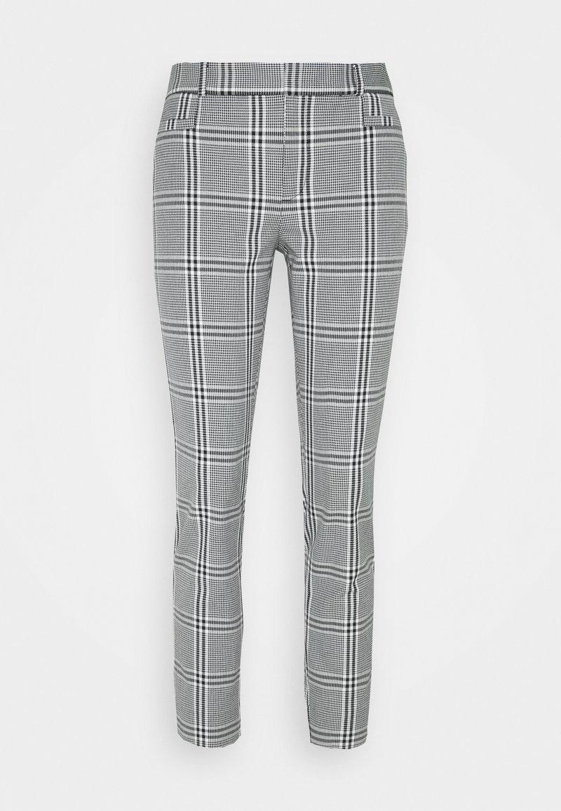 Banana Republic - CURVY SLOANKIKIPLAID - Trousers - black/blanco