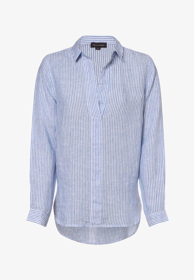 Franco Callegari - Blouse - hellblau/weiß