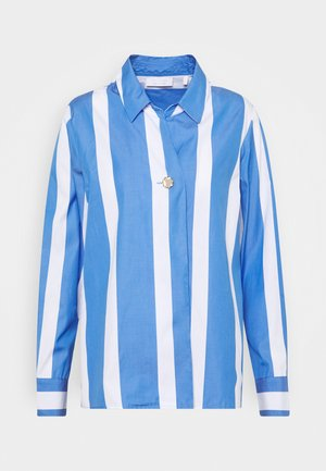 BLOUSE STRIPED - Chemisier - sky blue