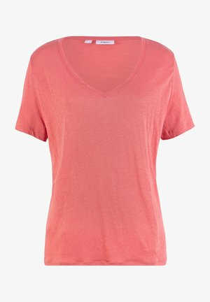 LOCKERES MIT V AUS - T-Shirt basic - rosa