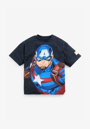 SUPERHERO - T-shirt z nadrukiem - black