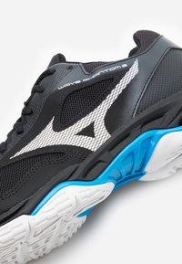 Mizuno - WAVE PHANTOM 2 - Handball shoes - black/white/diva blue - 5