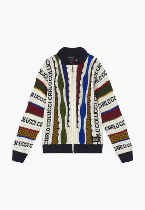 COLLEGE JACKET - Kardigan - white/multicolor