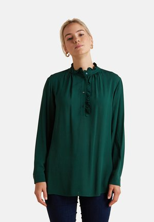 CON PICCOLI VOLANTS - Blouse - verde