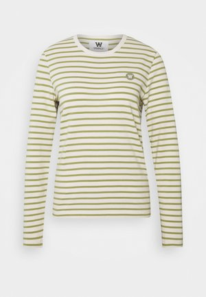 MOA LONG SLEEVE - Top s dlouhým rukávem - off-white/olive
