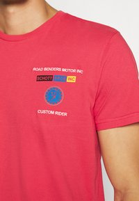 Schott - Print T-shirt - red - 5