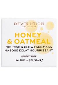 Revolution Skincare - HONEY & OATMEAL NOURISH & GLOW FACE MASK - Maseczka - - - 2