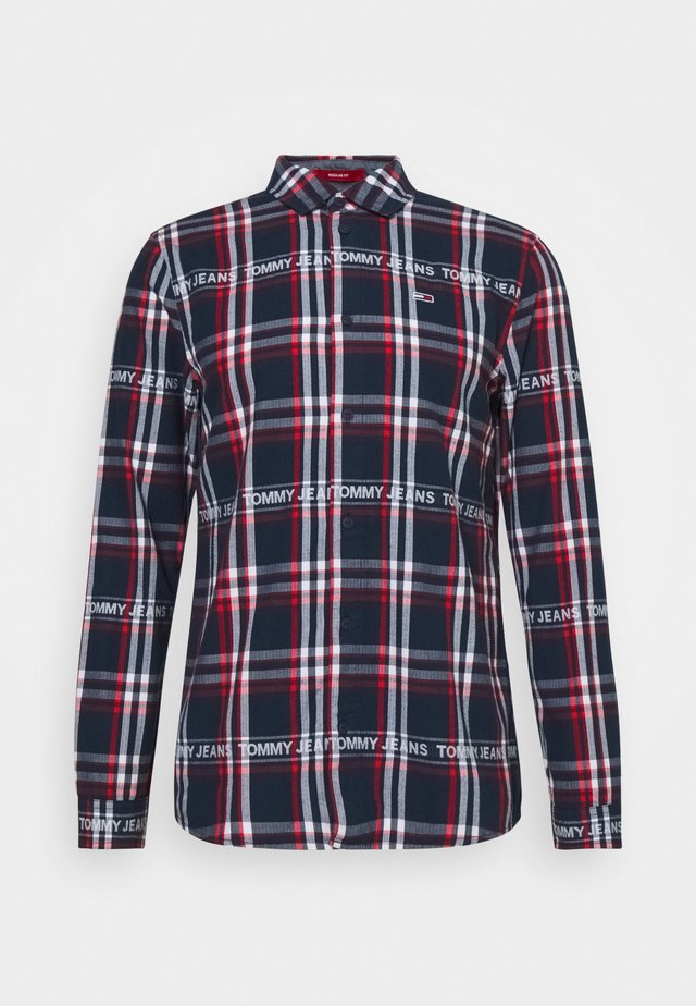 Shirt - dark blue/white/red