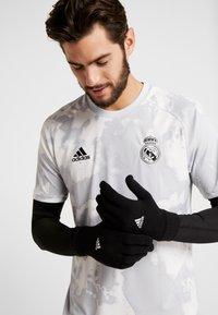 adidas Performance - TIRO FOOTBALL GLOVES - Guantes - black/white - 0