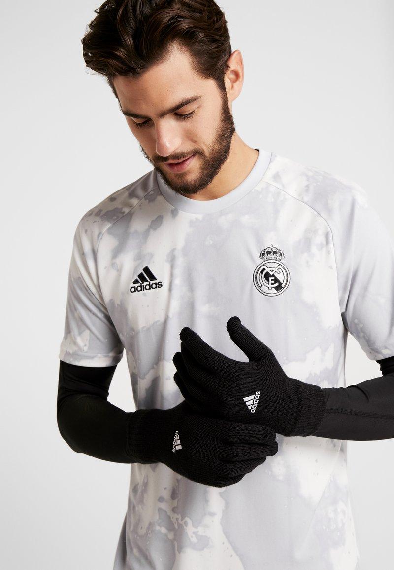 adidas Performance - TIRO FOOTBALL GLOVES - Guantes - black/white