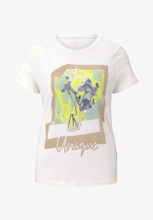 T-SHIRT T-SHIRT MIT FLORALEM PRINT - T-shirts print - whisper white