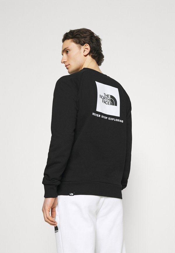 The North Face RAGLAN REDBOX CREW NEW - Bluza - black/white/czarny Odzież Męska PGPJ