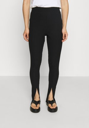 ONLNELLA SLIT PANT - Bukse - black