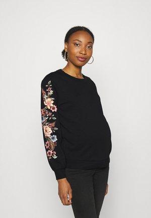 OLMCONNY LIFE O-NECK - Sweatshirt - black