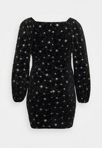 Simply Be - SWEETHEART NECK GLITTER BODYCON DRESS - Denní šaty - black - 1
