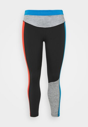 ONE 7/8  - Tights - black/light photo blue/chile red/white