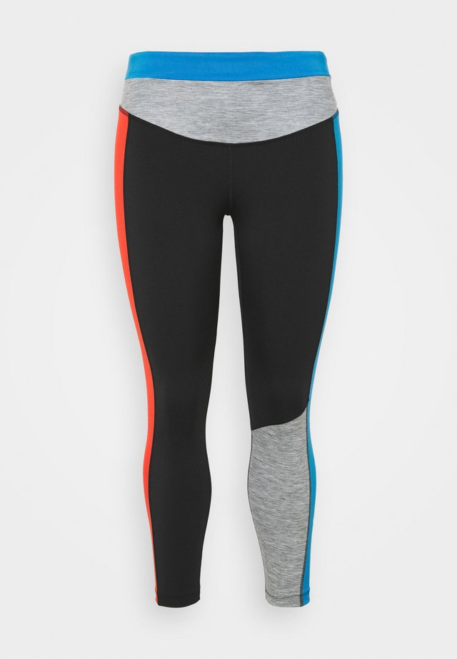 ONE 7/8  - Legging - black/light photo blue/chile red/white