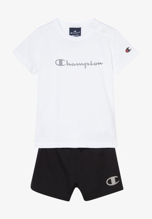CHAMPION X ZALANDO TODDLER SUMMER SET - Krótkie spodenki sportowe - white/black