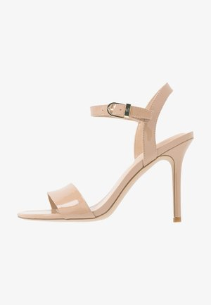 GWEN - Sandály na vysokém podpatku - nude