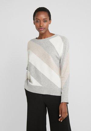 Sweter - silver/cream/beige