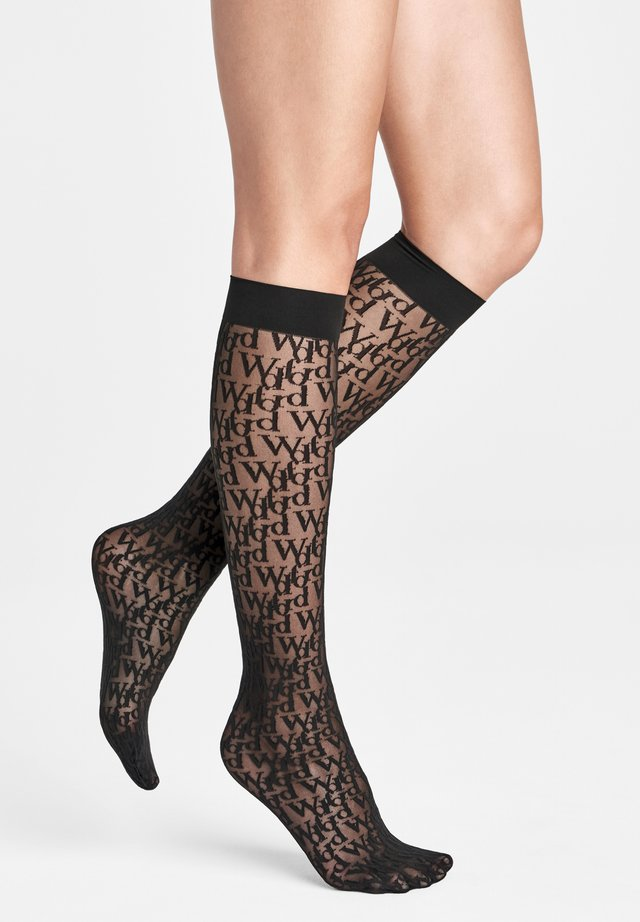Knee high socks - black/black