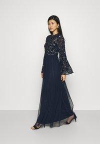 Maya Deluxe - FLORAL EMBELLISHED BELL SLEEVE MAXI DRESS - Společenské šaty - navy - 1