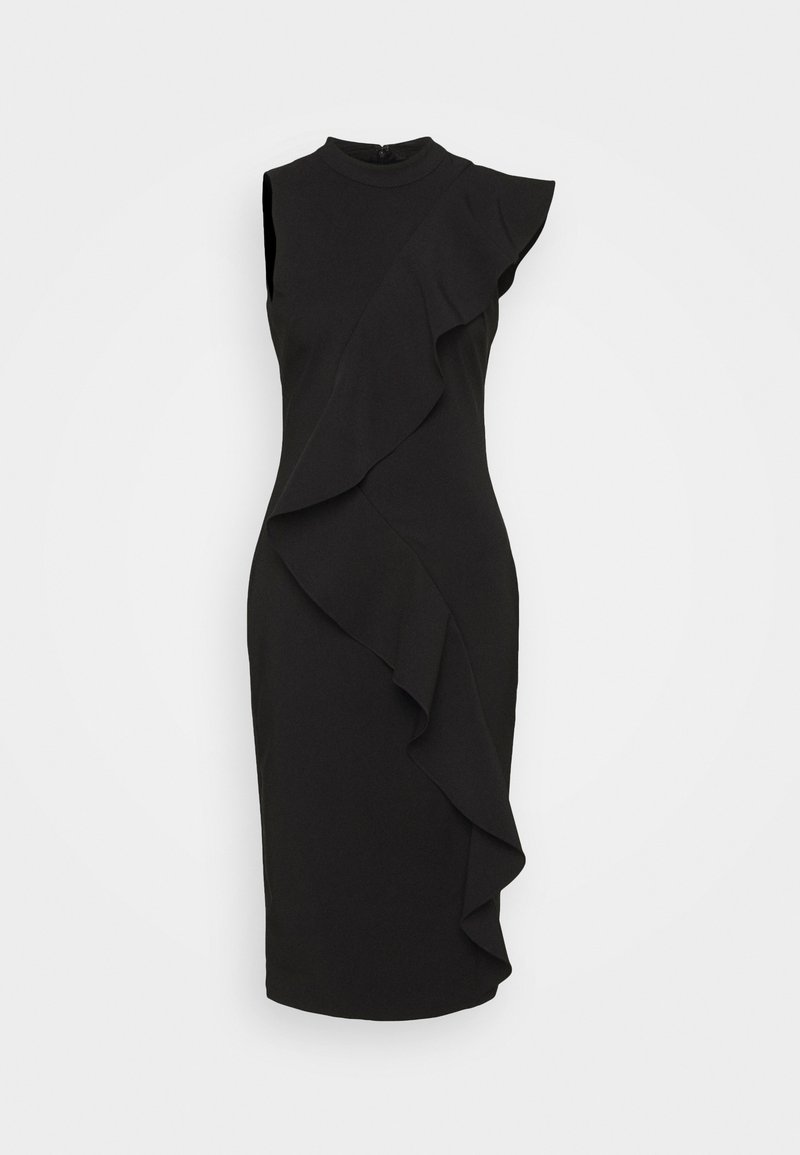 Adrianna Papell - STRETCH WOVEN RUFFLE DRESS - Cocktail dress / Party dress - black
