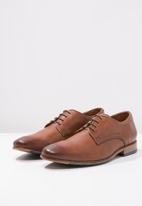 Salamander - STEEL - Smart lace-ups - cognac - 2