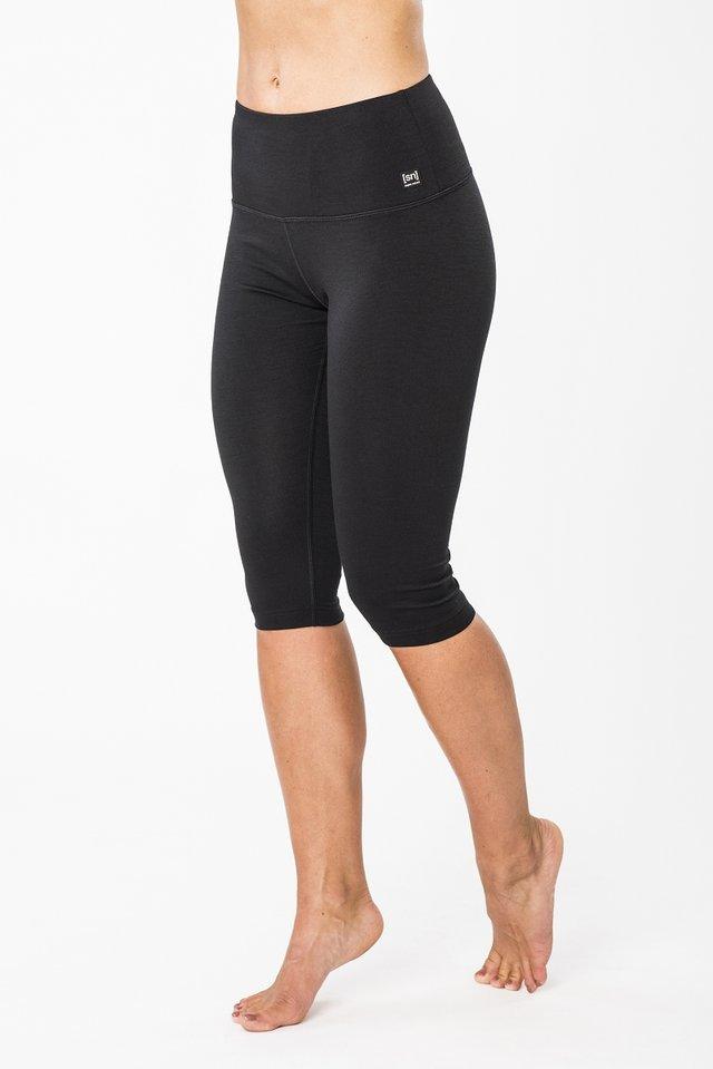 3/4 sports trousers - black