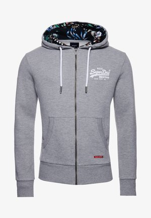 Zip-up hoodie - grey marl