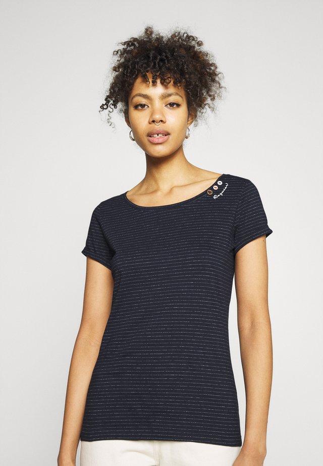 FLORAH - T-shirt imprimé - navy