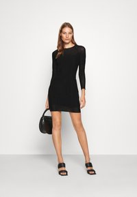 Calvin Klein Jeans - DOUBLE LAYER DRESS - Day dress - black - 1