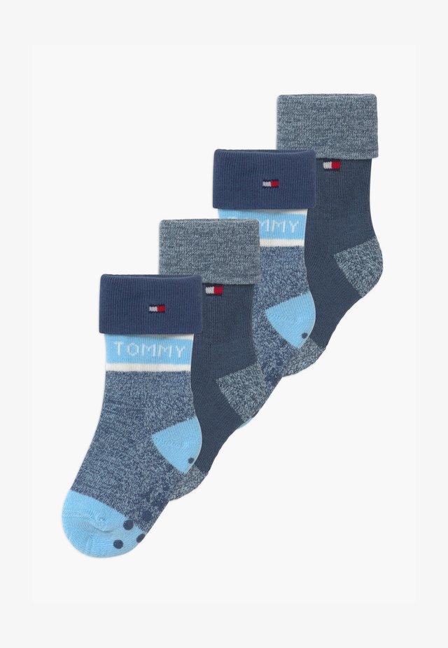FOLD OVER 4 PACK - Ponožky - blue