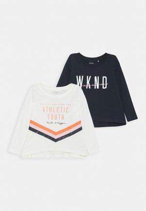 NKFVIOLET LOOSE 2 PACK - Langærmede T-shirts - dark sapphire