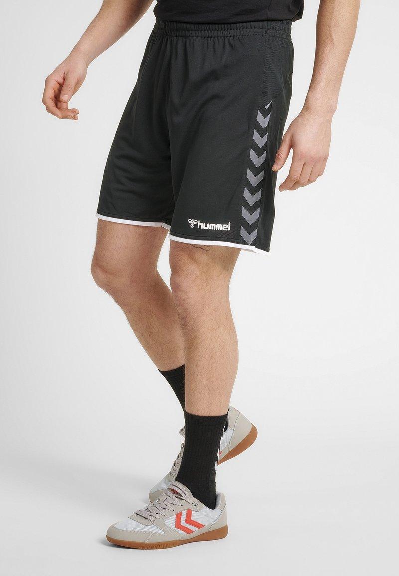 Hummel - HMLAUTHENTIC  - Korte sportsbukser - black/white
