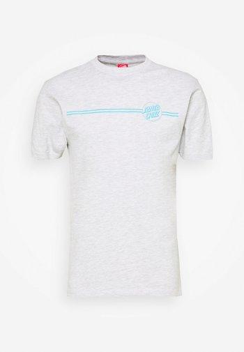 OPUS DOT STRIPE UNISEX - Print T-shirt - athletic heather