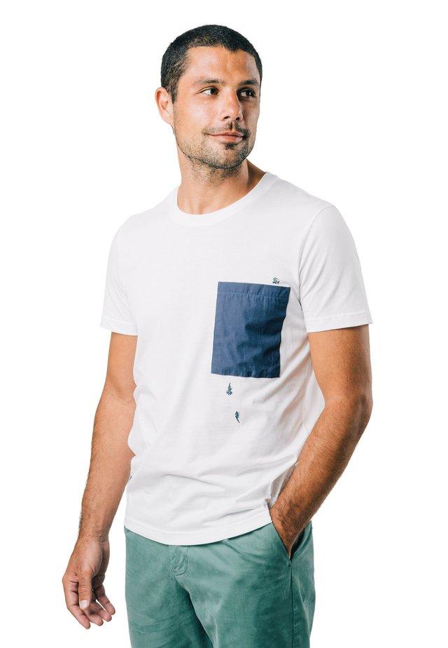 NINJA - T-shirt con stampa - white