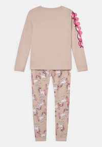 Lindex - PLACED UNICORN - Pyjama set - light beige - 1