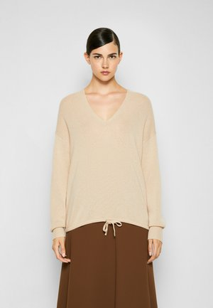 RELAXED HOODIE - Jumper - pale sand