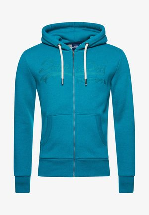 VINTAGE LOGO  - Zip-up sweatshirt - ocean green marl
