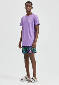 PULL&BEAR - T-shirt basic - purple - 1