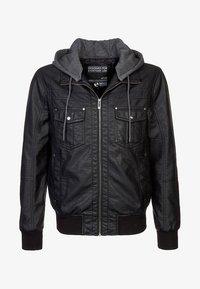 YOURTURN - Imitatieleren jas - black - 6