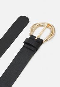 Lindex - GOLD BUCKLE WATER BASED BELT - Belt - black - 1