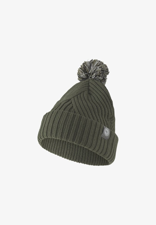 CIRCLE CAT REMOVABLE POM BEANIE - Bonnet - thyme