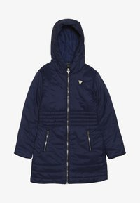 Guess - JUNIOR PADDED HOODED LONG JACKET - Winter coat - deck blue - 3